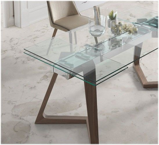 Resultado de imagen de mesa cristal 80 cm comedor casa - Mesa comedor cristal ...