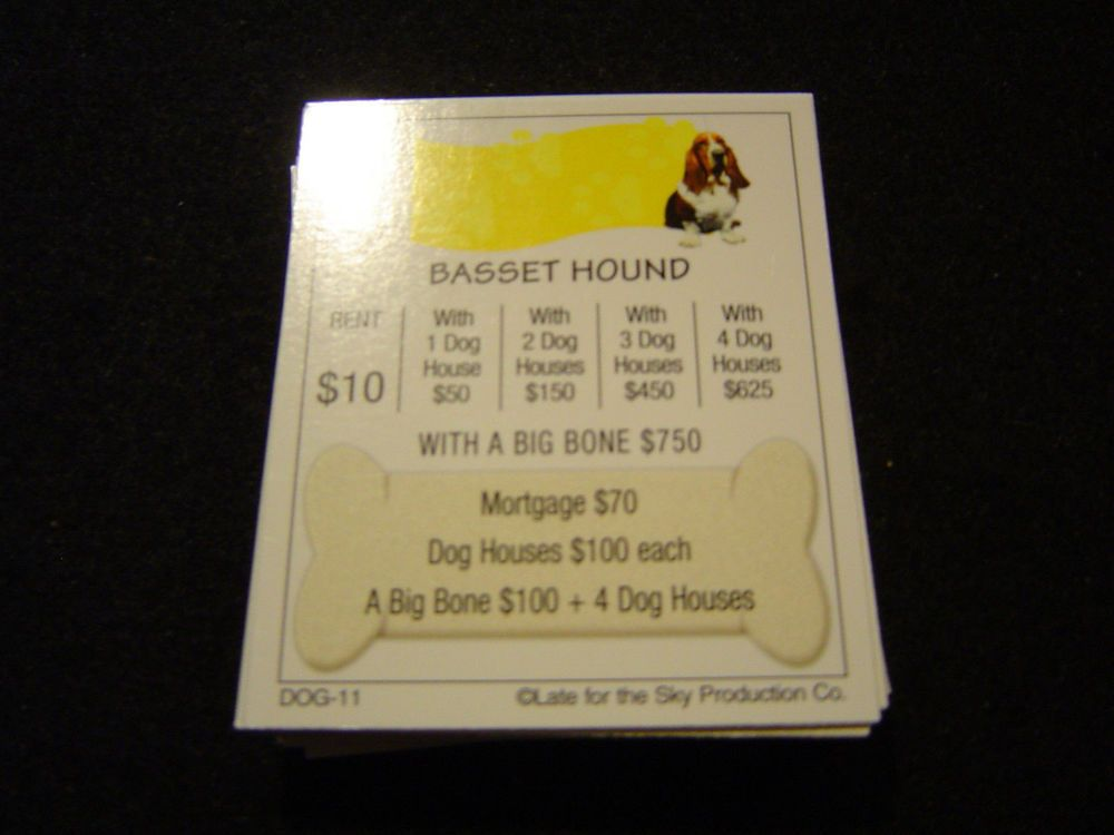 Dog Opoly Board Game Property Deeds Pinterest Game Pieces Board