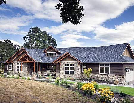 Plan 69582am Beautiful Northwest Ranch Home Plan Ranch Style House Plans Craftsman House Ranch Style Homes