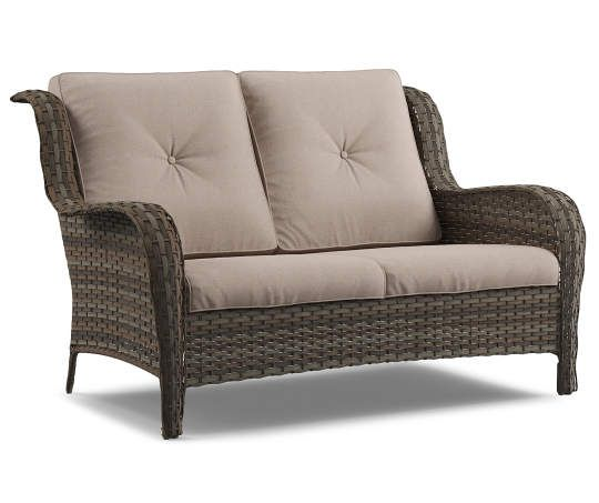 Best I Found A Oakmont All Weather Wicker Cushioned 2 Seat Sofa 640 x 480