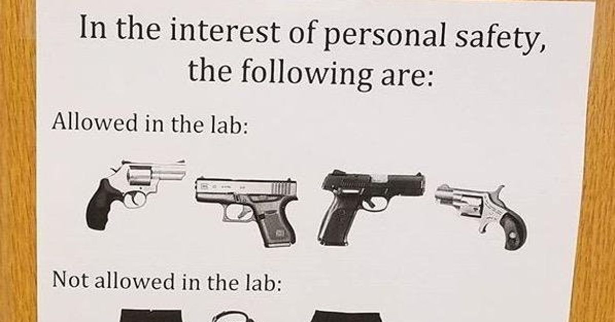 This Incisive Sign Raises An Important Point About Guns On