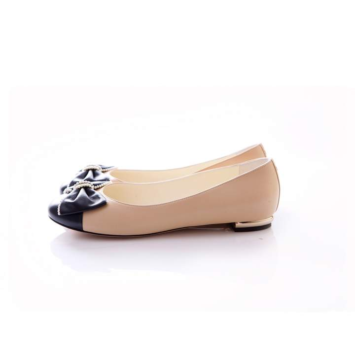 Chanel Beige Leather Flats Women Shoes Flat Shoes Women Chanel Flats