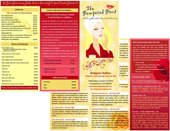 Sonoma Spa Brochure Design  Brochure Ideas Trifold And Single