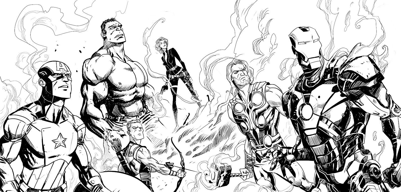 Marvel Comic Characters Outline Images