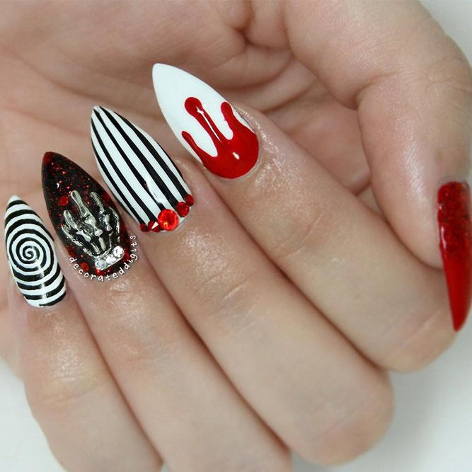 Pin On Halloween Stiletto Nails Design