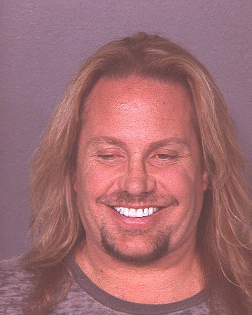 Vince Neil 07 Mug Shots Celebrity Mugshots Vince Neil