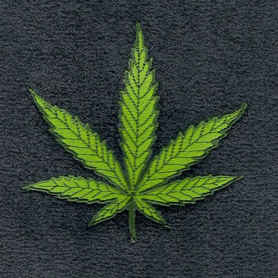 Cannabis marijuana machine embroidery designs