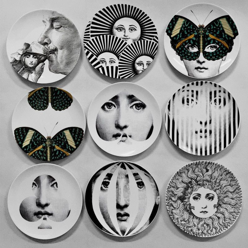 Details About Fornasetti Ilrator Decorative Plate Lady