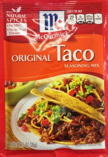 mccormick seasoning packet | Mccormick taco seasoning ...