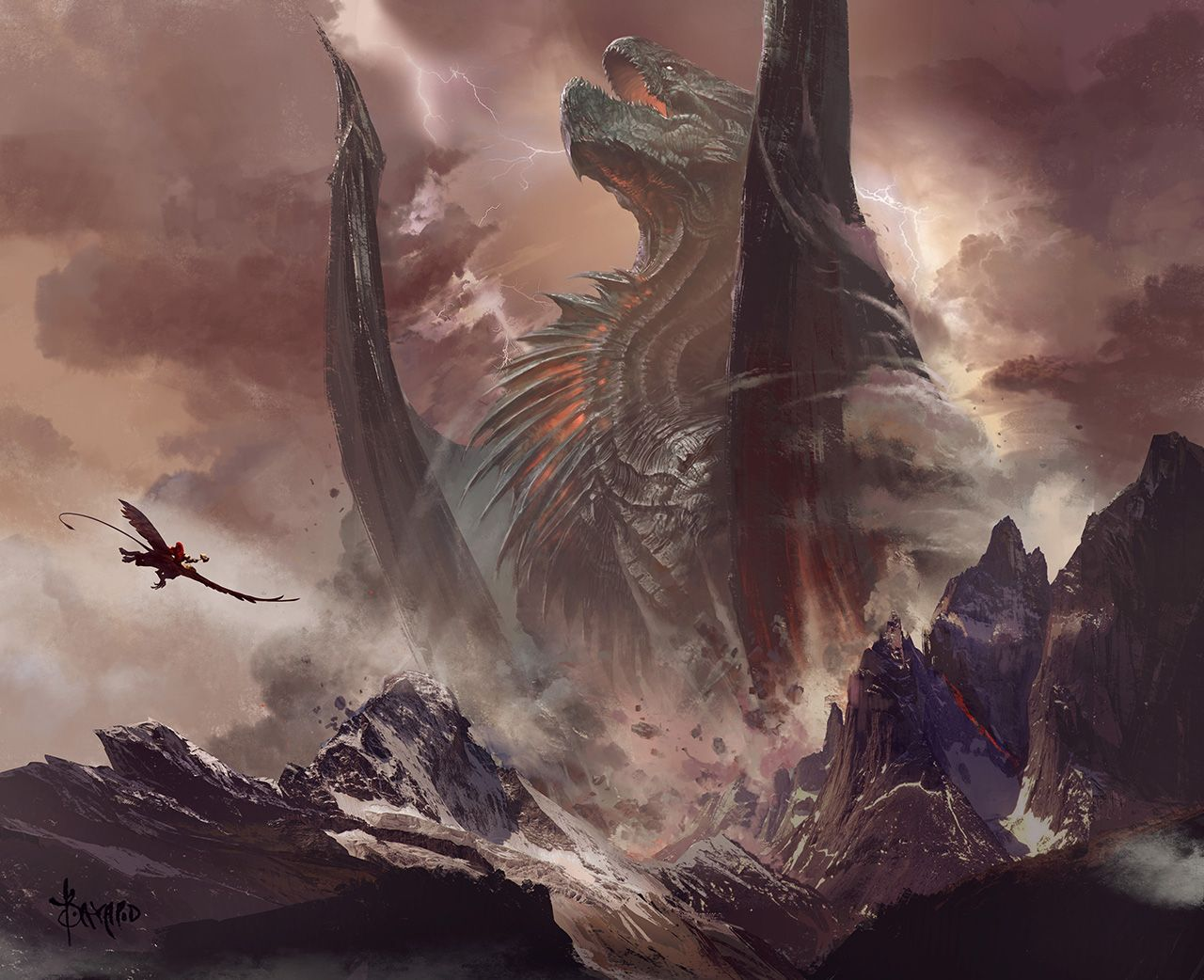 giant giant fire dragon vs ice dragon - photo #20