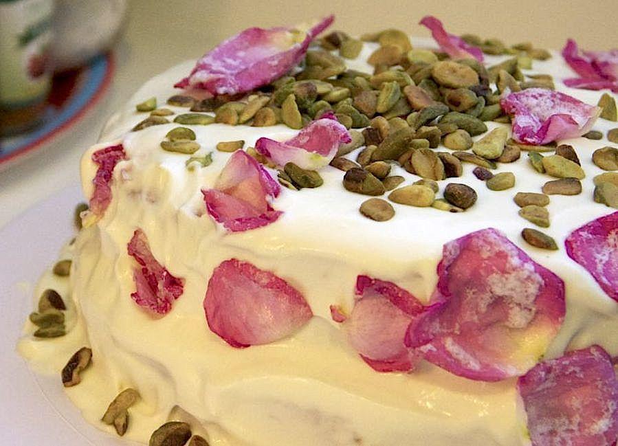Saffron & Rose Water Cake AKA Persian Love Cake