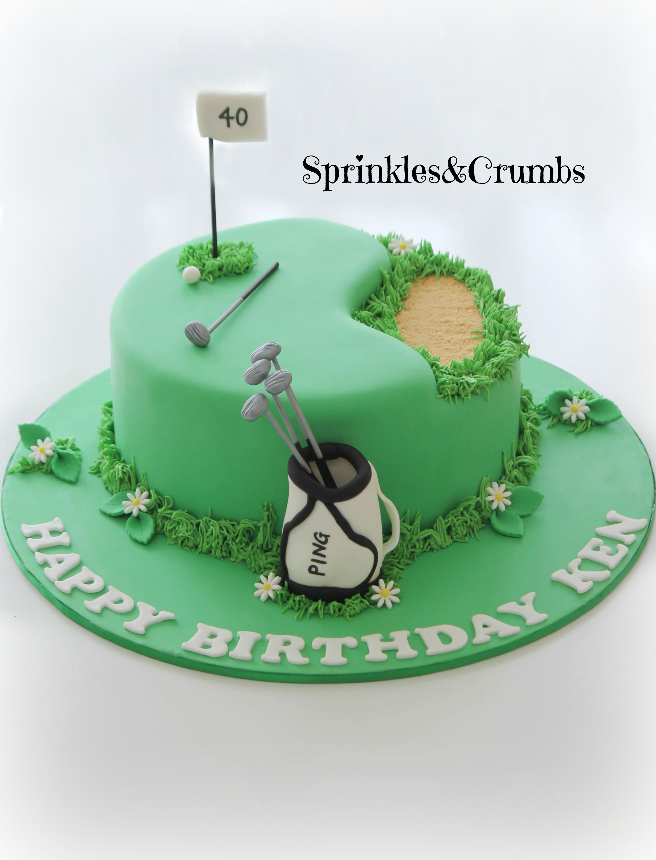 40th Birthday Golf Cake For A Man