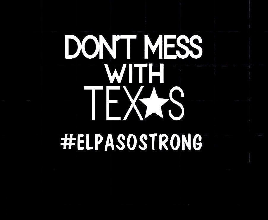 Elpasostrong vinyl sticker dont mess with texas