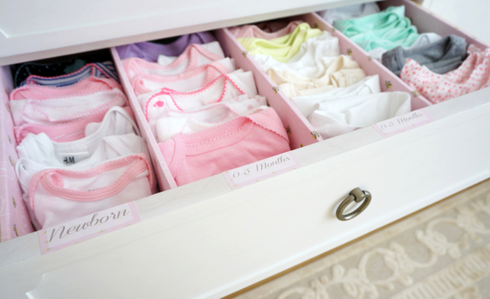 Nesting The Easy Way Project Nursery Baby Clothes Organization Baby Organization Baby Dresser