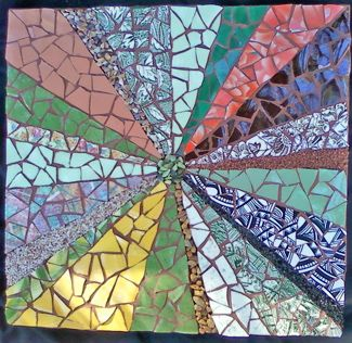 high school mosaics using paper | The Spartanburg Artist Guild included the Upcycle category in its ...