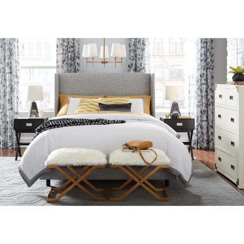 Alrai Upholstered Standard Bed & Reviews AllModern