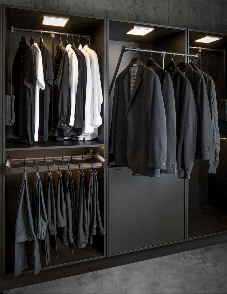 Pull Down Closet Rods Can Be Helpful For Shorter People Or Those With Less Mobility In A 55 Community Innovate H Closet Designs Closet Storage Clothes Closet