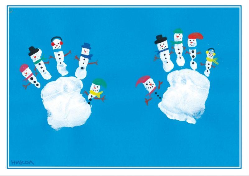 Christmas Hand Print Art, Christmas Foot Print Art, Christmas Card Ideas  For Kids, Christmas Card Ideas For Primary, Painted Christmas Card Ideas