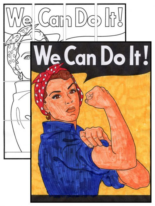 Free We Can Do It Mini Mural 4 5 6 Art Projects Mural