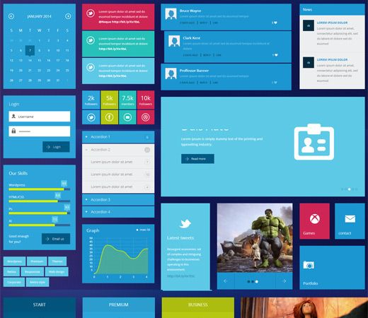 20 Free Responsive and Mobile Website Templates | Ui kit, Template ...