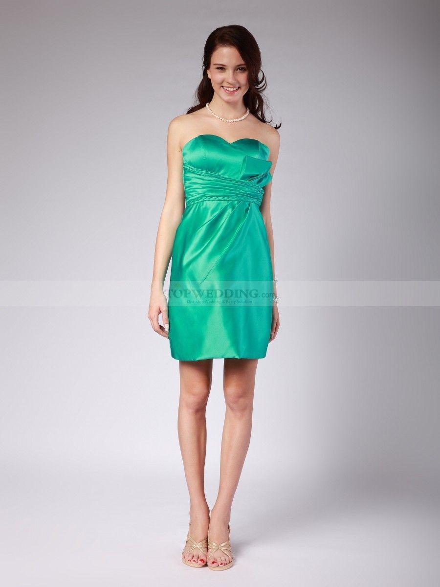 Giuseppina - Herz-Ausschnitt Kurz Taft Kleid Brautjungfer | Kleid ...
