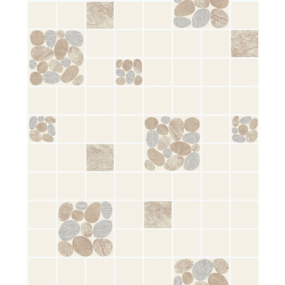 Holden Pebble Tiling On A Roll Wallpaper Beige 9   Pebble tile ...