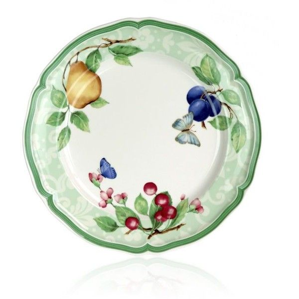 Villeroy Boch White French Garden Beaulieu Dinner Plate ($31) ❤ liked on Polyvore featuring  sc 1 st  Pinterest : dinner plate in french - pezcame.com