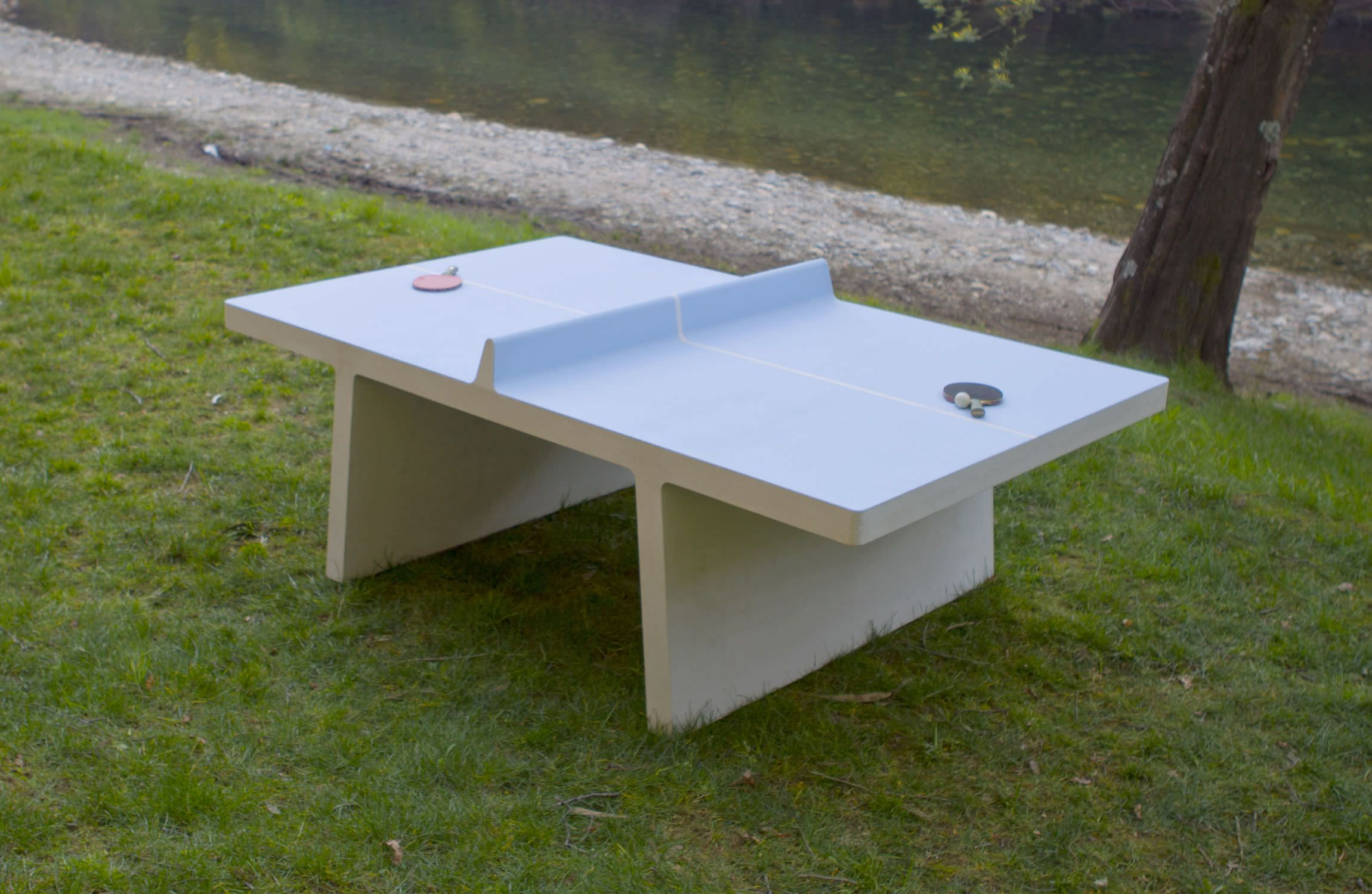 tischtennisplatte selber bauen aus holz: rankgerust holz freistehend
