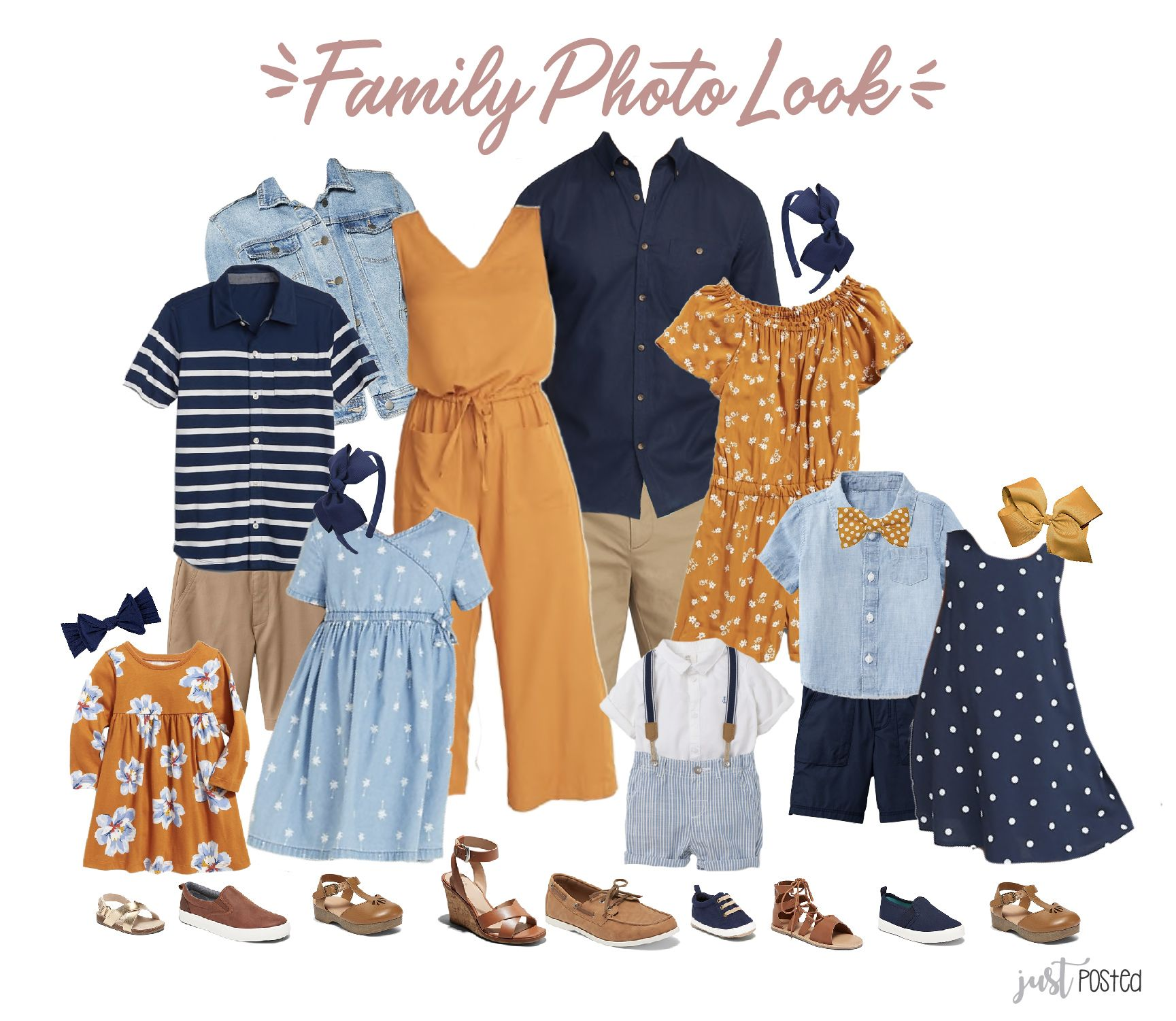 What to Wear for Family Pictures - 4 Coordinating Looks
