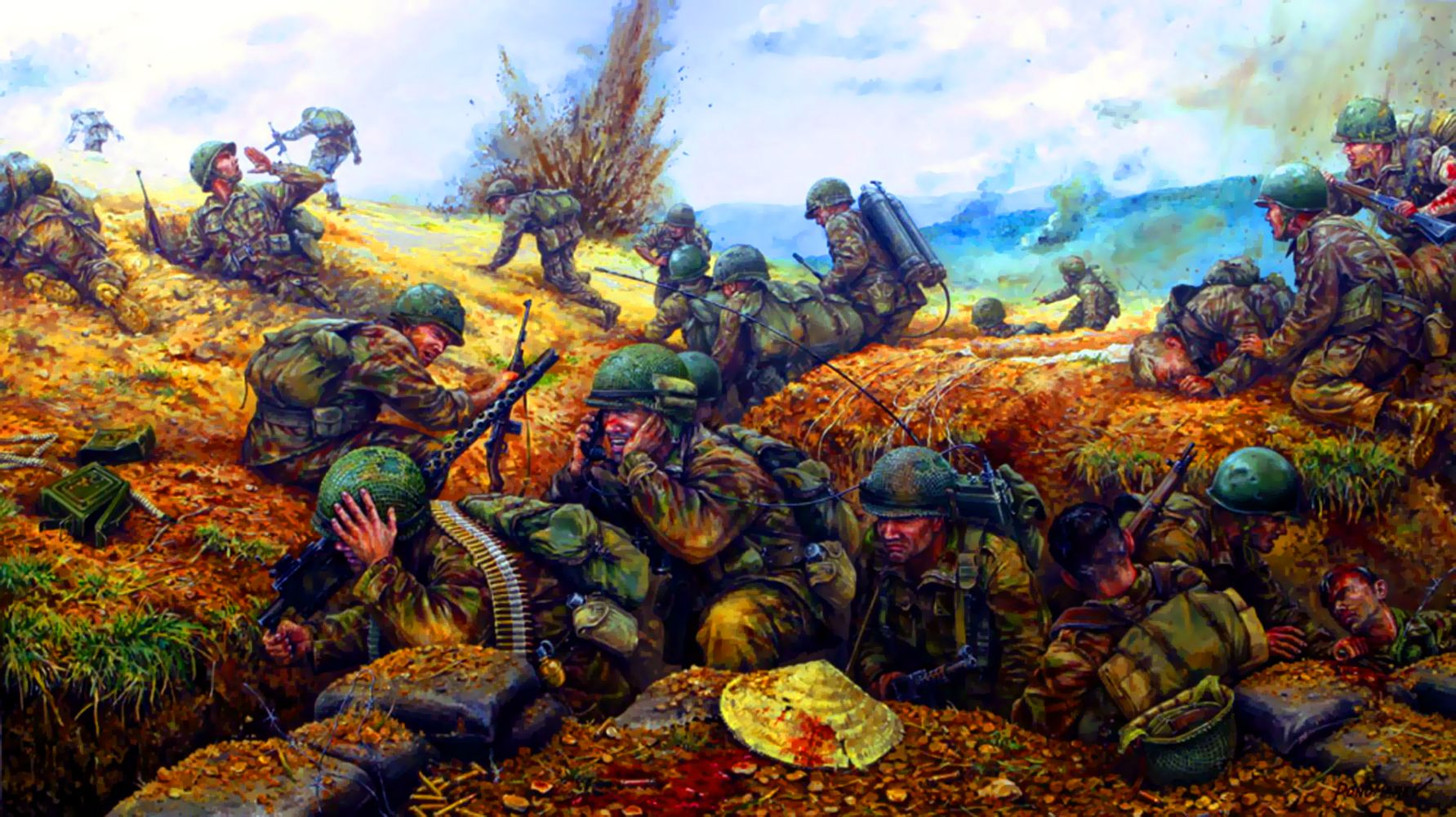 French Paratroopers At The Battle Ofn Bien Phu