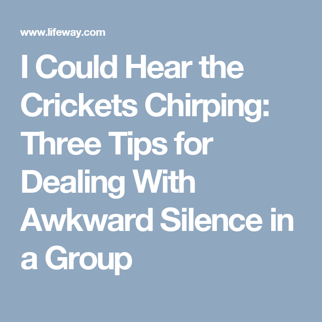 how to deal with awkward silence