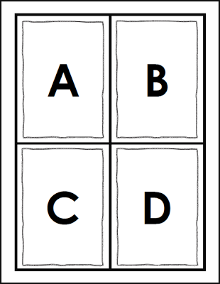 Flashcards Freebie In Black And White To Save On Color Ink Letter Flashcards Flashcards Abc Flashcards
