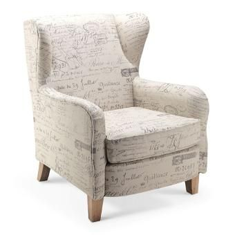 Chanel Occasional Chair Fabric French Writing   Far Pavilions