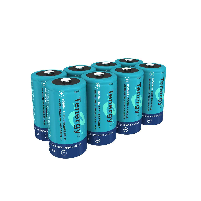 Tenergy D 10 000mah Nimh Rechargeable Batteries 8pcs Nimh Rechargeable Batteries Recharge