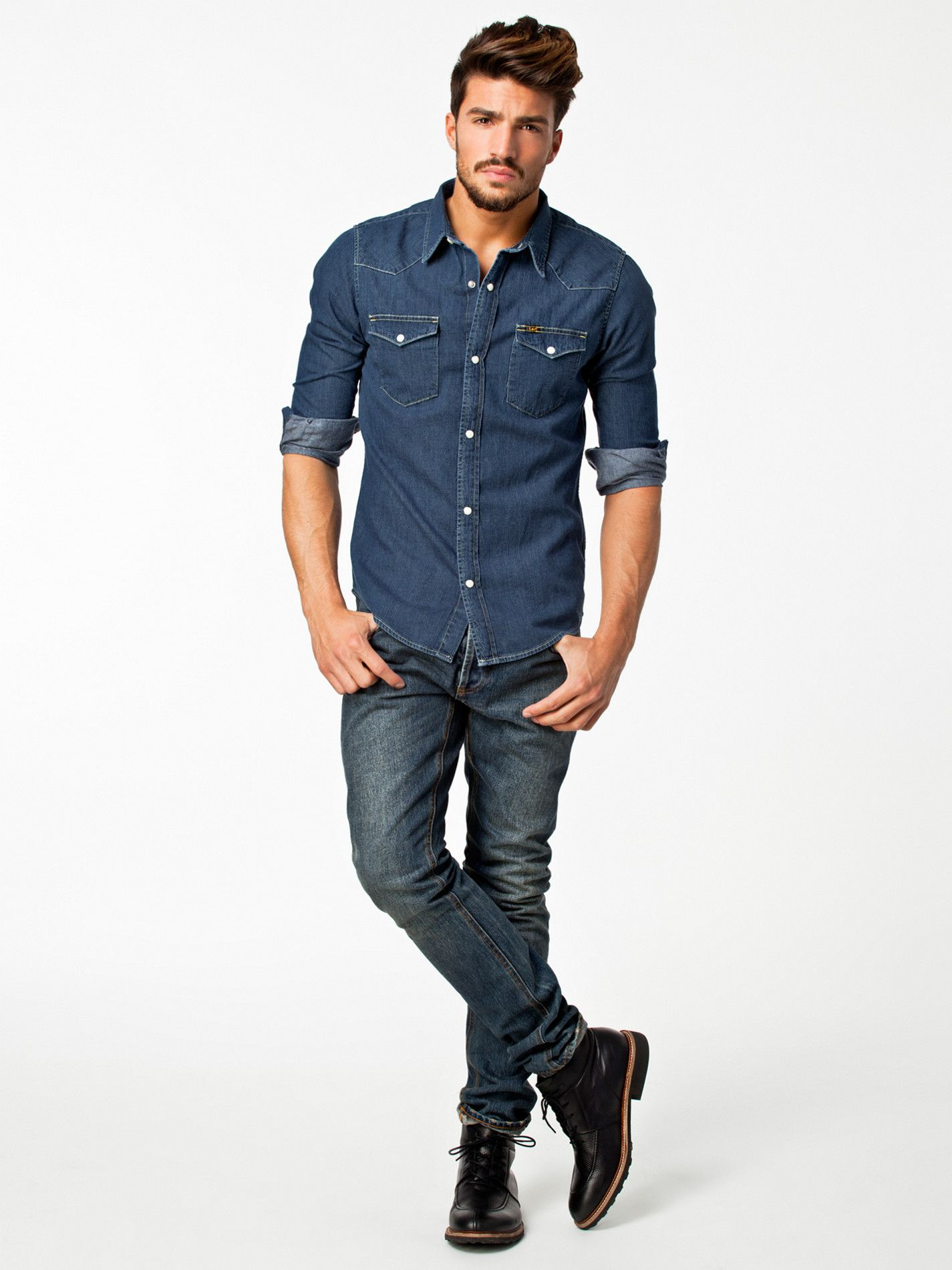 e7d4505fab6 Western Shirt - Lee Jeans - Stone - Shirts (Men) - Clothing - Men -  Nelly.com