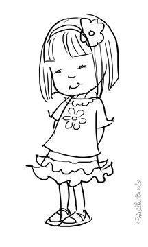 NIÑA TÍMIDA   Dibujo de niños jugando, Diseños de dibujo y ...