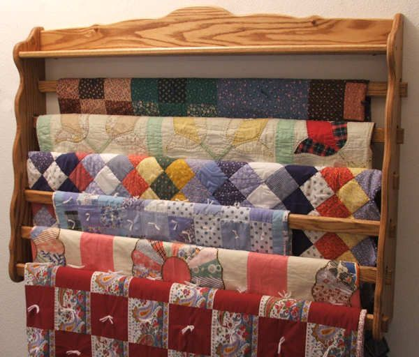 Large Six Six Wall Quilt Holder Yes It Holds 6 Quilts Custom