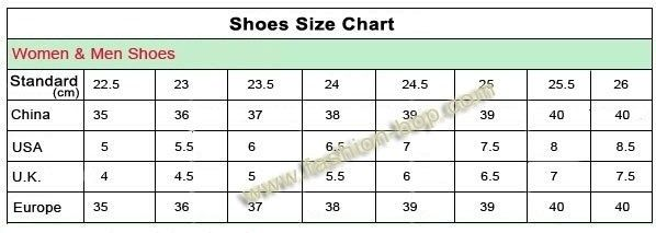 Chinese shoe size chart world of template format throughout