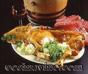 Cochinillo asado pork comida de navidad recetas de - Cocina navidena espanola ...