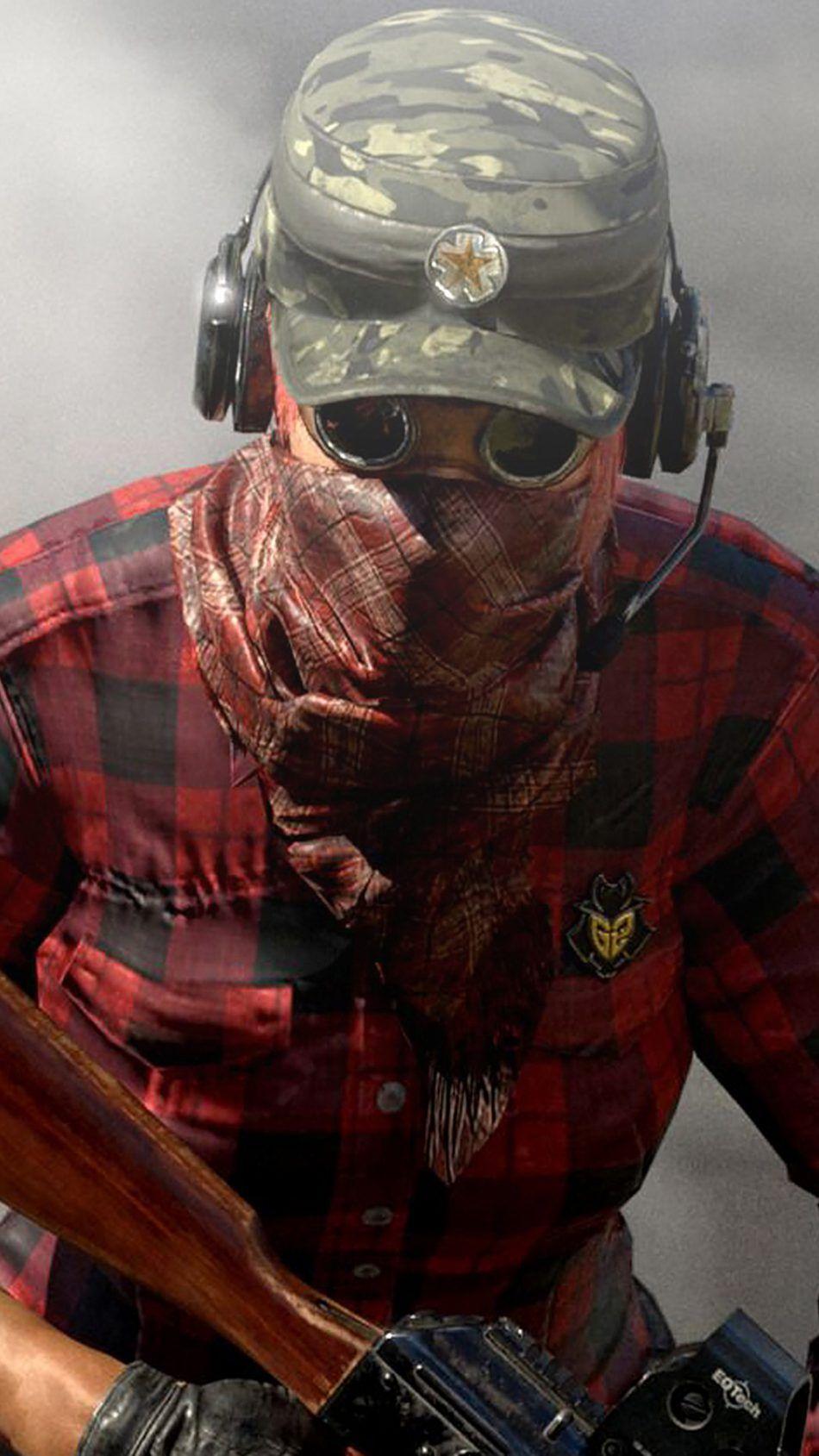 Masked Player In Miramar Desert PlayerUnknown's