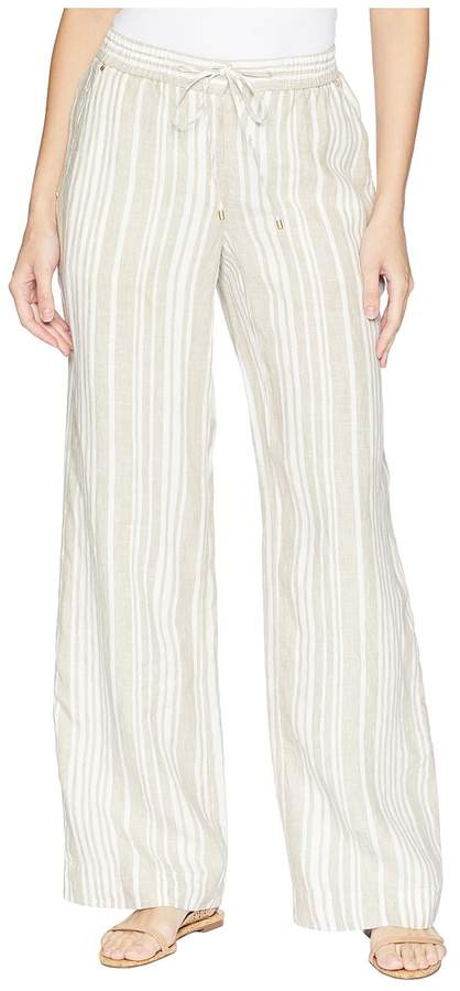 2539f0a201 Jones New York Stripe Linen Easy Pants Women s Casual Pants ...