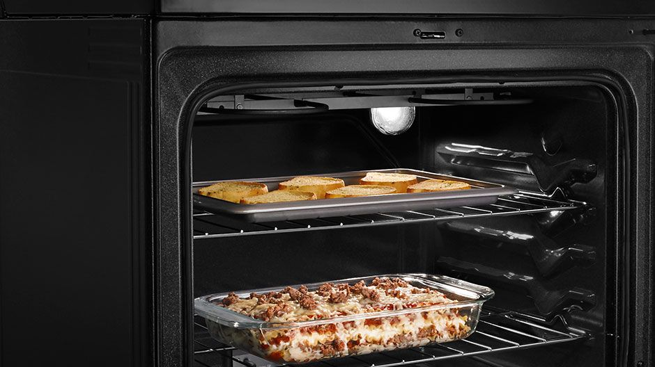 Amana 48 cu ft electric range in stainless steel