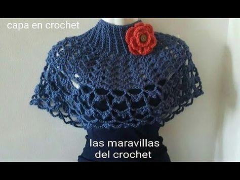 Capa fácil y elegante en crochet (ganchillo ) - YouTube | Patrones ...
