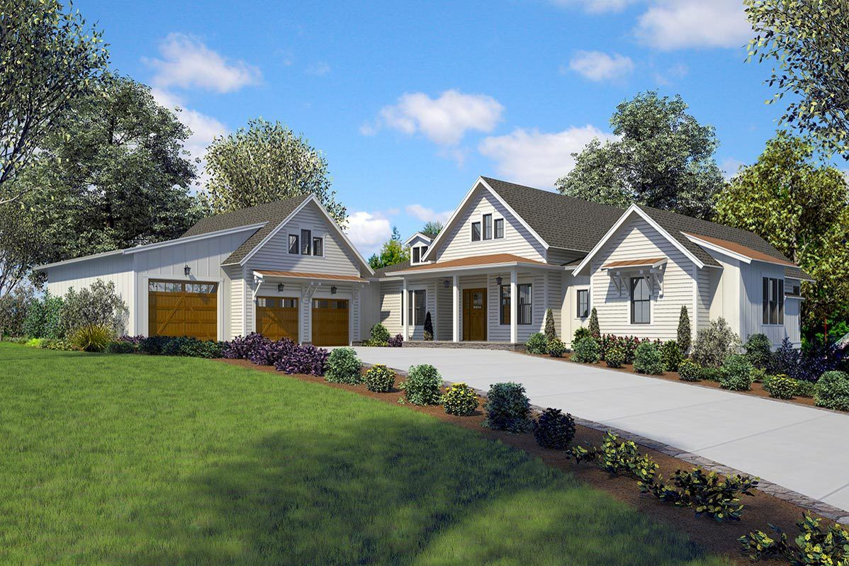 Plan 23783JD Luxurious 4Bed Farmhouse with WalkOut