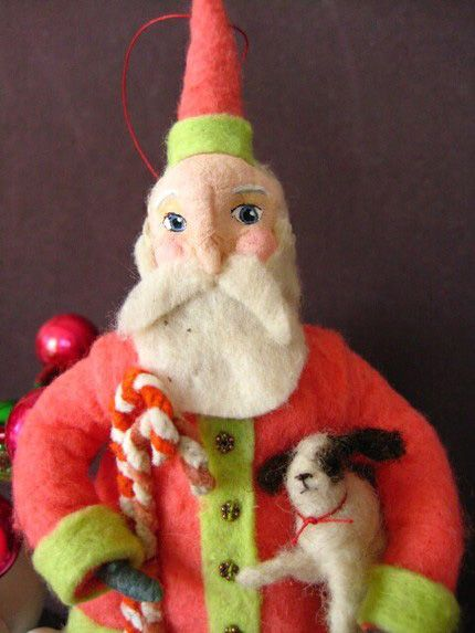 By Maria Pahls........spun cotton and needle felting
