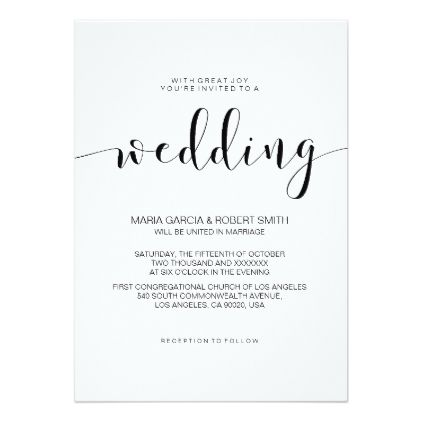 Simple minimalist calligraphy wedding invitation wedding simple minimalist calligraphy wedding invitation wedding invitations cards custom invitation card design marriage party stopboris Image collections