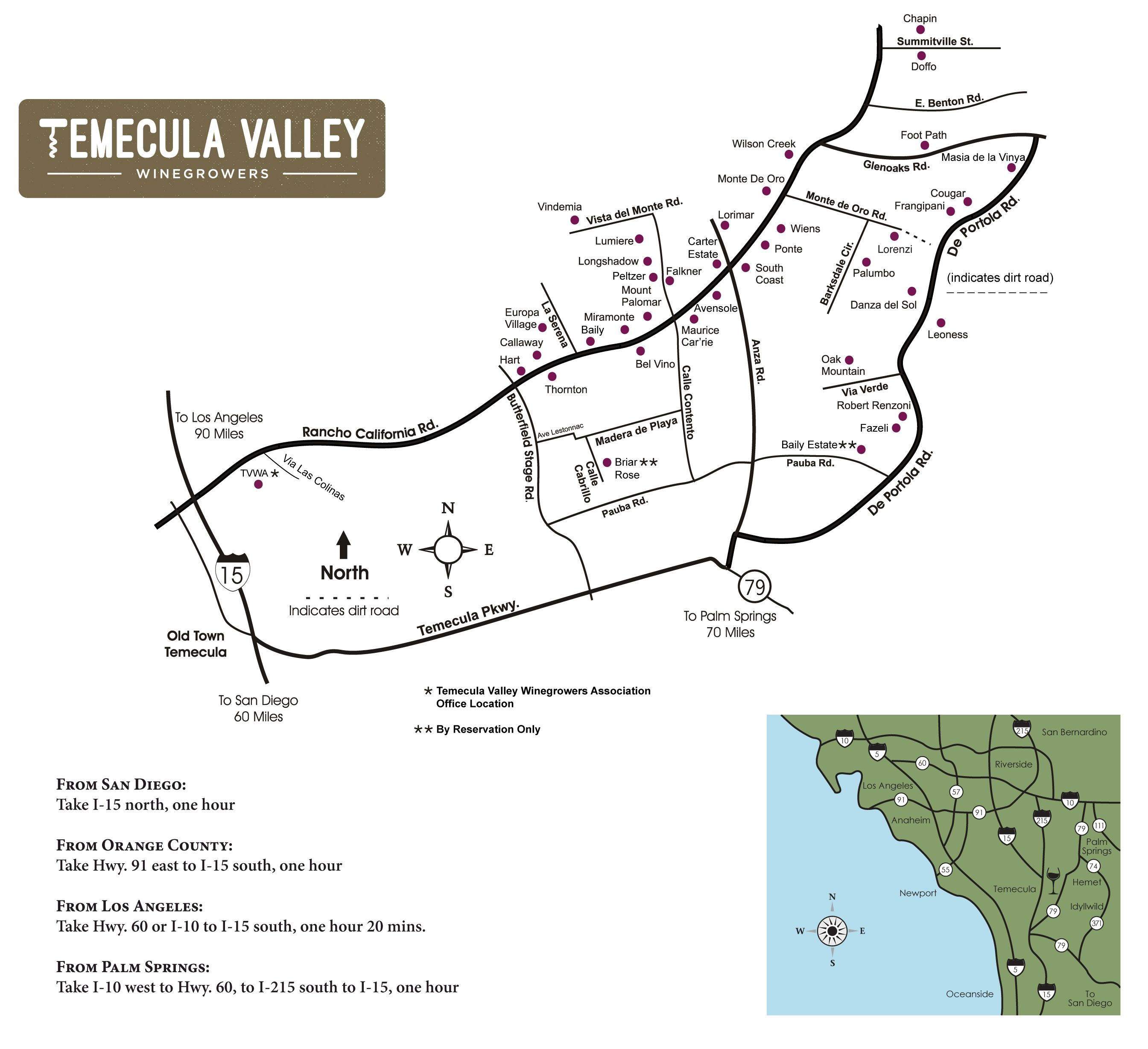 Temecula Valley Winegrowers Association   Winery Map | Temecula