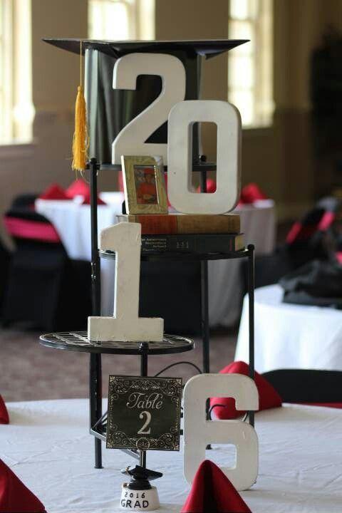 Graduation centerpiece graduation 2017 pinterest for Class picture ideas