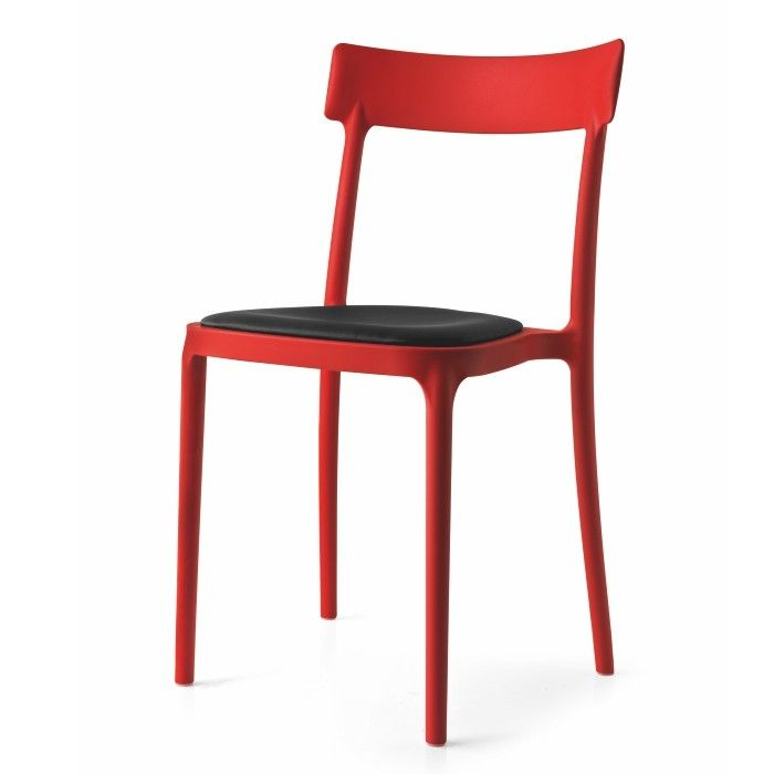 Calligaris_Argo_Red Polypropylene Chairs   Stackable