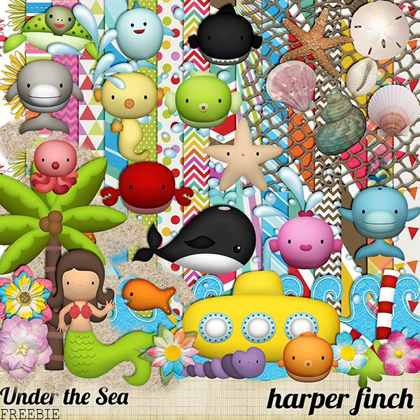 Harper Finch: Under the Sea & Mini Kit Freebie